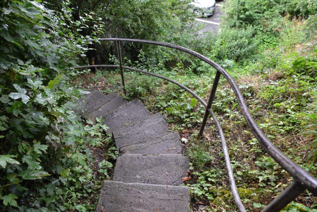 Las escaleras que os comentaba