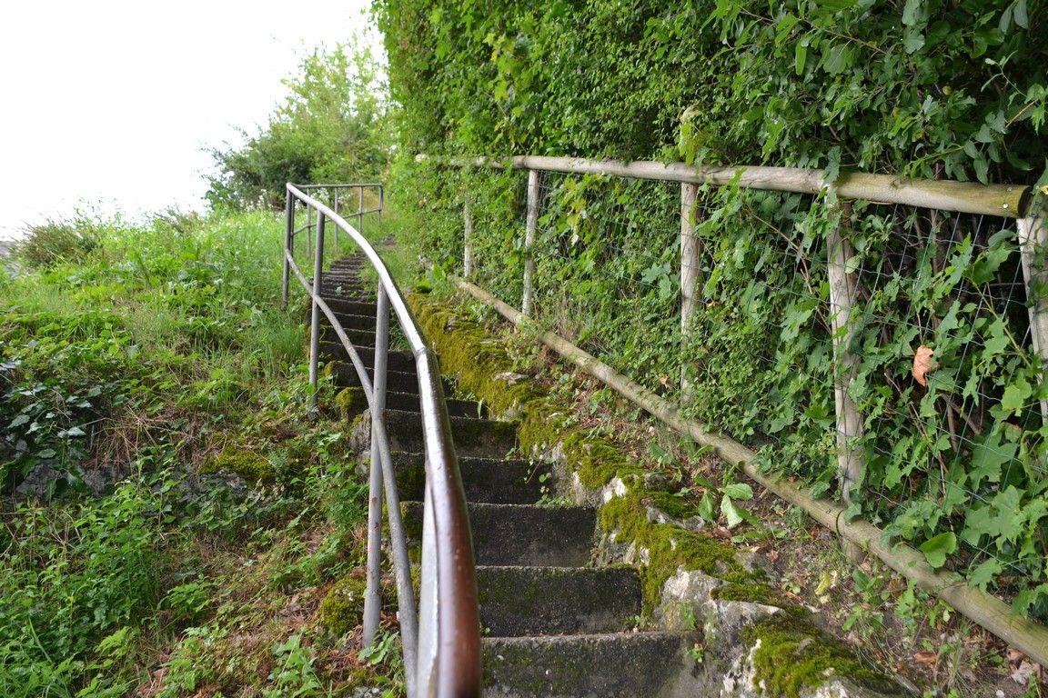Y las mismas escaleras vistas hacia arriba